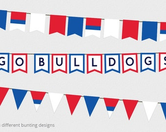 AFL Bunting Western Bulldogs Decorations - AFL Grand Final Decorations - Western Bulldogs AFL - Printable Bunting Design - Afl football