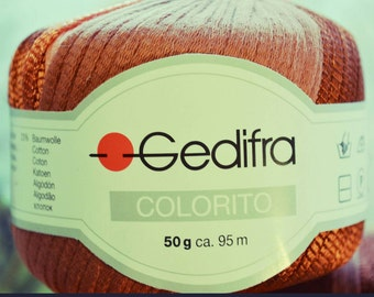 Gedifra Colorito Copper and Peach Yarn