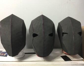 Blank foam cosplay helmets