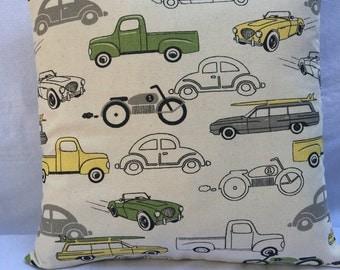 Vintage Cars & Trucks 14x14 pillow cover