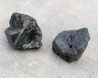 2 Natural Iron Ore Slag Rock for Decorating, Collecting, or Crafts