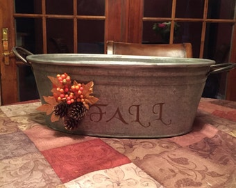 Hand crafted wash tub