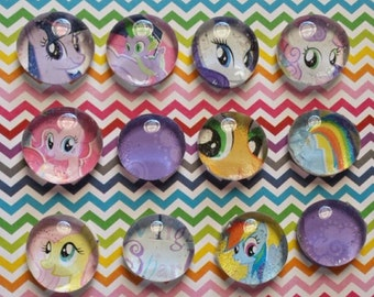 My Little Pony Glass Bead Magnets