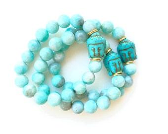 TenThings. Buddha. Amazonite. Bracelet.