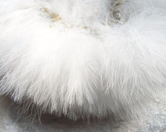 White marabou feathers , bulk, lot, wholesale, hair extension, golden yellow feather