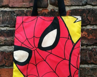 Mini Marvel tote - Spider Man Face
