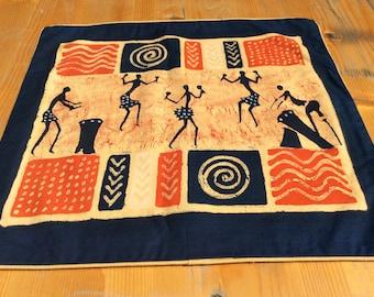 Batik-Kissenbezug-Tänzer blau 40x38,5 cm