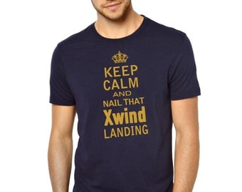 Keep Calm and Nail that Xwind Landing, Men / Aviator Pilot T-shirt