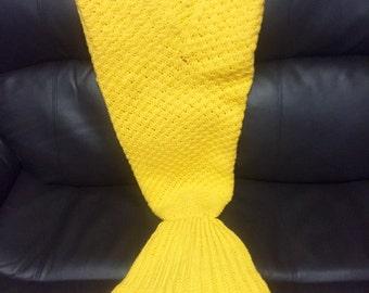 crochet mermaid tail/blanket