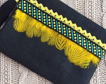 Handbag, clutch boho, clutch ethnic, hippy chic clutch