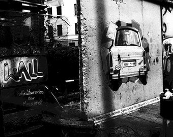 Berlin Last of the Wall:Print, Fine Art Photography,Wall Art, Landscape,Home Decor Wall Art, Urban Art Berlin, Imagery Black & White image