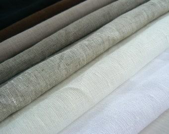 Linen fabric, by the yard, Pure linen, 100% natural, eco friendly, softened and ECO certified, yardage