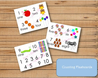 Counting Flashcards 1-10