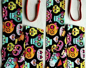 GIRLY SKULLS CrossFit Weightlifting Wrist Wraps..FREE Shipping!