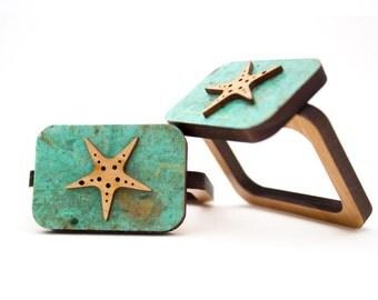 Star Fish - Napkin Ring - Wooden