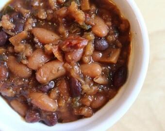 Crockpot Southwestern Chili Mix- Vegan, Sugar Free, Gluten Free, Paleo, Clean Eating, Soup