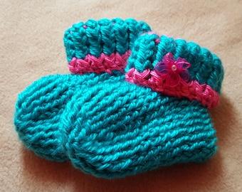 Crochet 3-6 mo. booties