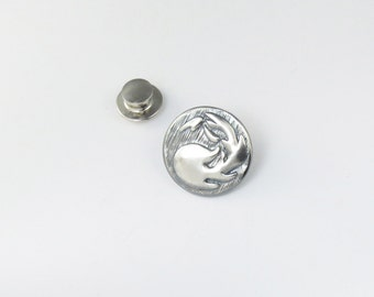 Magic:The Gathering Inspired Lapel Pin In Sterling Silver-Red Mana
