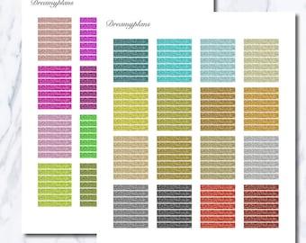 Glitter Headers Printable Erin Condren Personal Kikki K Planner Stickers