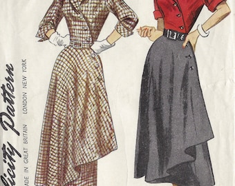 1949 Vintage Sewing Pattern B34 DRESS (1240)  Simplicity 2974
