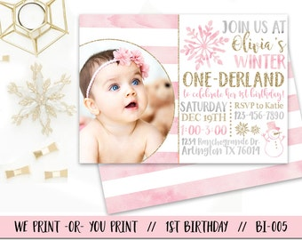 winter onederland invitation girl onederland birthday invitation winter first birthday invitation onederland party - Winter Onederland Party Invitations