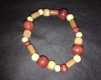 Wood Bracelet with Multi Color