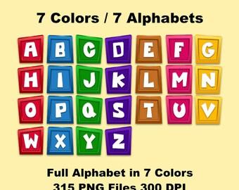 Pocoyo - Alphabet Clipart - 315 png files 300 dpi - 7 Colors 7 Alphabets - Pocoyo Party