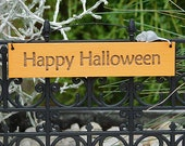 Happy Halloween Hanging Sign Fairy Garden Sign Halloween Garden by Jennifer