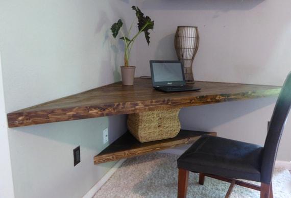 floating corner desk modern corner desk floating shelves