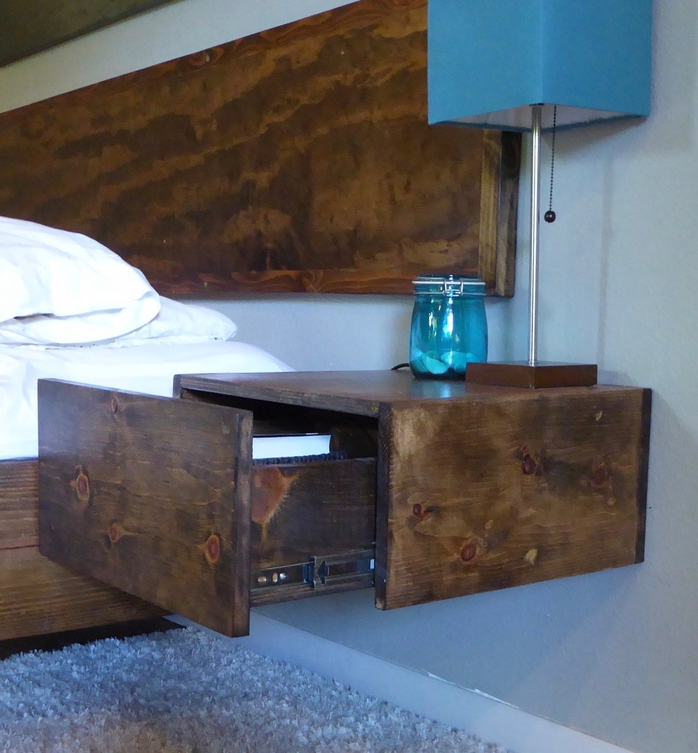 Floating Nightstand/ Floating Drawer/ Bedside Table/ Modern