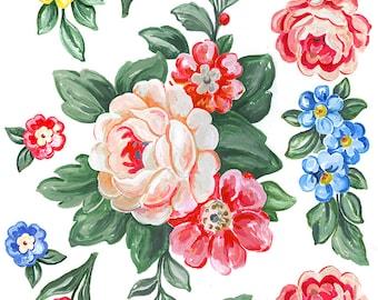 Julie's SurfaceTattoos Tapestry Roses