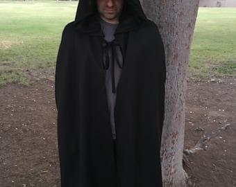 ON SALE Cosplay Black Hooded Cloak