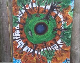 Seasons- Acrylic painting on canvas 20x16