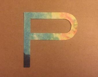 P-T Cutout Paper Letters | Scrapbooking Letters | Handcut