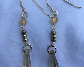 Dangle earrings with vintage beads