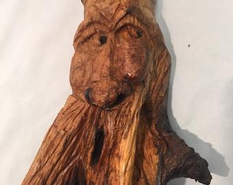 Hand Carved, Wood Spirit, Wall Art, Home Decor, Original Art, Wood Part 44