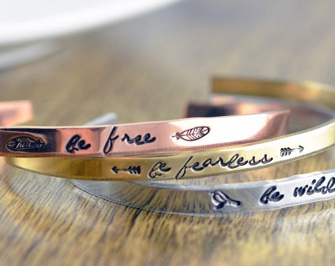 Custom Bracelet - Mantra Band - Mantra Bracelet -Cuff Bracelet -  Personalized Cuff - Personalized Jewelry