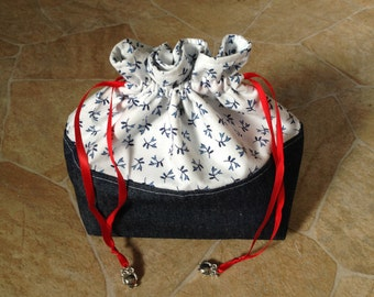 Project bag blue with charm