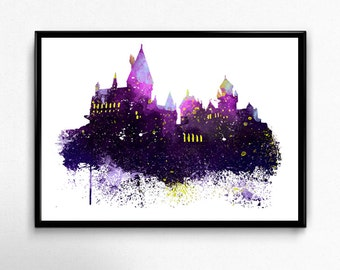 Harry Potter, Hogwarts Castle,  Harry Potter Art, Hogwarts, Harry Potter Print, Hogwarts Print, Hogwarts Poster, Harry Potter Poster