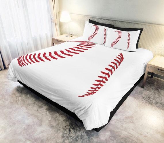 Baseball Threads Bedding Kids bedding by StainedThreadsCo