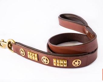The Sheriff Leather Dog leash
