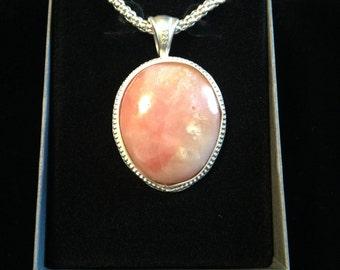Peruvian Pink Opal Pendant
