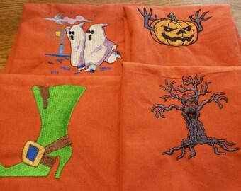 Halloween Embroidered Napkins