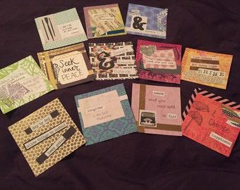 Positive thinking cards, affirmation, happy, positive attitude