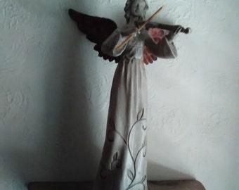 Vintage Angel Playing Violin