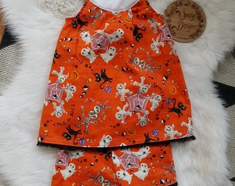 Halloween print Tunic and short set
