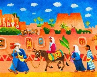 ORIGINAL ILLUSTRATION ART, acrylic painting, fine art, Judaica wall art, figurative art, original paintings, bible verse wall art, bible art