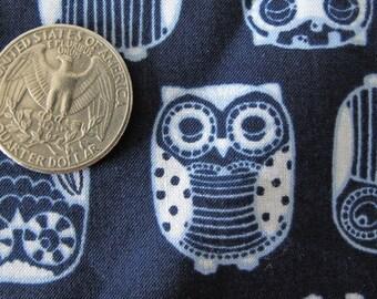 JAPANESE Cutest OWLS Print Fabric Retro 1FQ Nayv