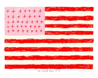 United State of Us - Love Art Celebration - Art Print 12x16 - Poster