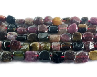 Tourmaline Nugget Gemstone Beads